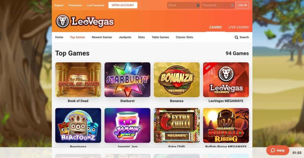Leo Vegas games
